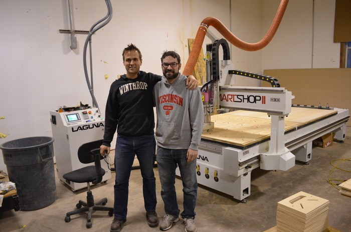 New CNC Machine with Luke and Paul