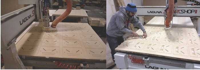 Paul Peterson with CNC Machine