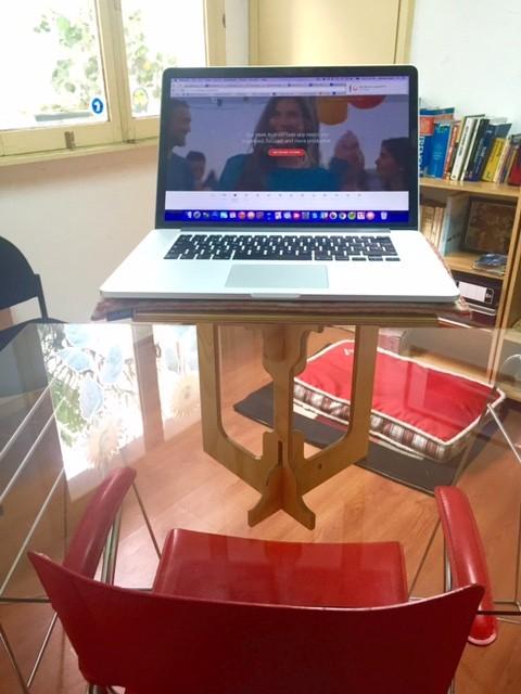 Brenna Loury's office standing desk