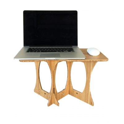 StandStand offers bamboo portable standing desk with space for mouse