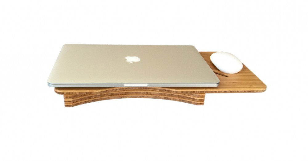mouse standing desk 3 bamboo